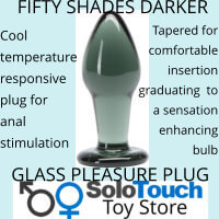 FIFTY SHADES DARKER GLASS PLEASURE PLUG BLACK